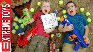 Extreme Toys Shorts: Ethan and Cole Sneak Attack Squad Nerf Bazooka Blast!