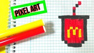 Vaso Mc Donald Pixel Art Muy Facil