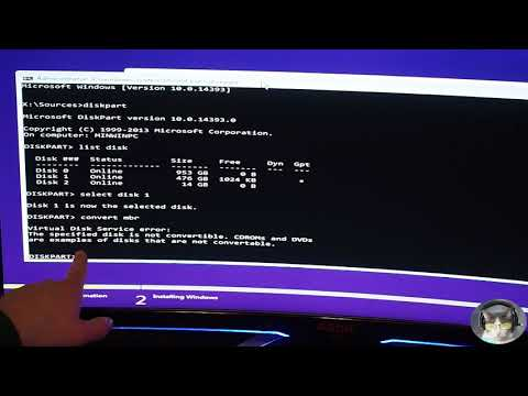How to convert GPT to MBR during Windows Install