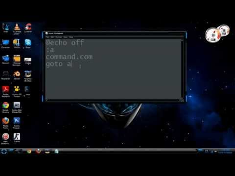 How to make a virus with command prompt(CMD)