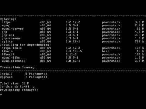 PHP 5.3 + MySQL 5.5 on CentOS-5 with PowerStack