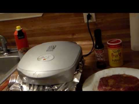 How To Cook a Thick Rib Eye Steak on a George Foreman Grill