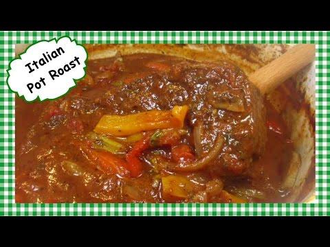 My Italian Beef Pot Roast ~ Slow Cooker Beef Dinner Recipe