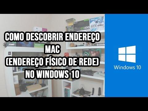 Como descobrir Mac address do pc (Windows 7 / 8 / 8.1 /10)