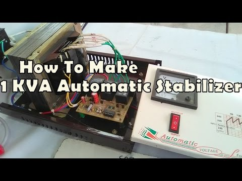 How To Make 1 KVA Automatic Stabilizer With Microprocessor Kit Easy At Home. YT-36