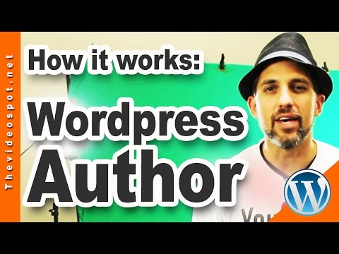Wordpress Tips: How to set up an AUTHOR (roles and responsibilities) by Videospot