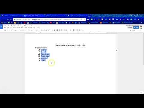Interactive Checklist with Google Docs