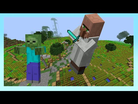 HOW TO GET MOBS OF YOUR CHOICE TO FIGHT EACH OTHER - Minecraft Tutorial