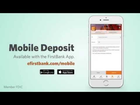 FirstBank - Mobile Deposit Tutorial