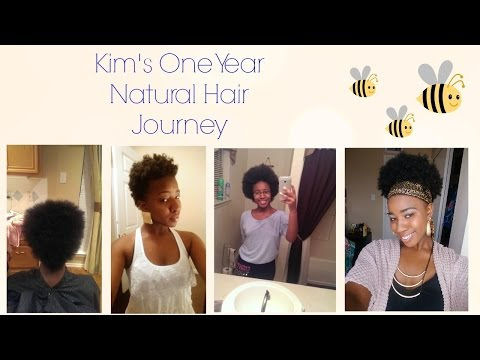 Kim's One Year Natural Hair Journey
