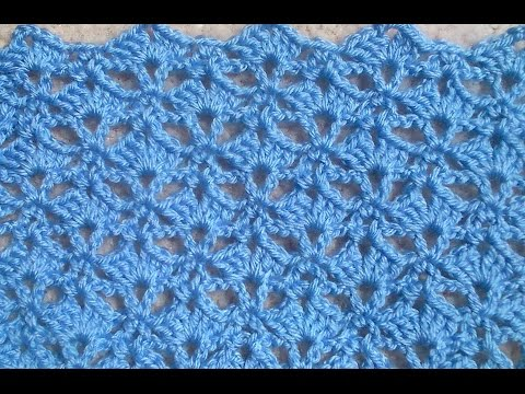 Crochet Pattern - UMBERELLA SHELL CROCHET STITCH TUTORIAL