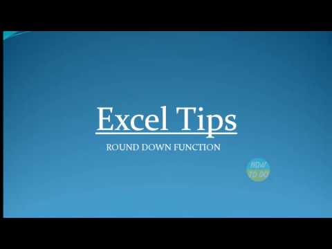 How To Use Round Down Function in Excel