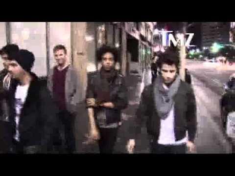 Joe and Nick Jonas leaving Katsuya
