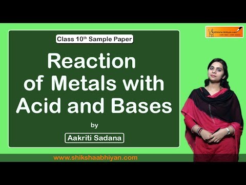 #Reaction of metals with #acid and bases