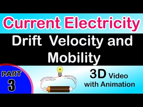 Drift Velocity and Mobility  Current Electricity class 12 physics subject notes CBSE IIT JEE NEET