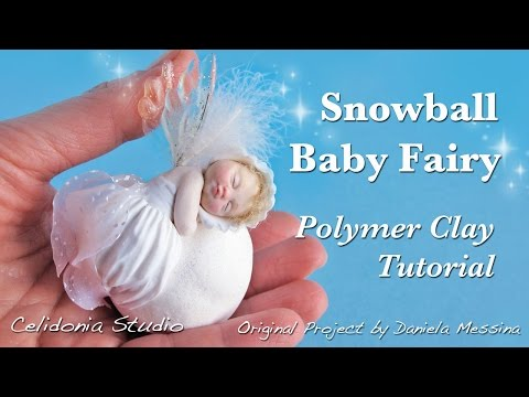 Polymer Clay Baby Fairy on a Snowball Tutorial