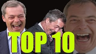 TOP 10 Nigel Farage giving zero f***s