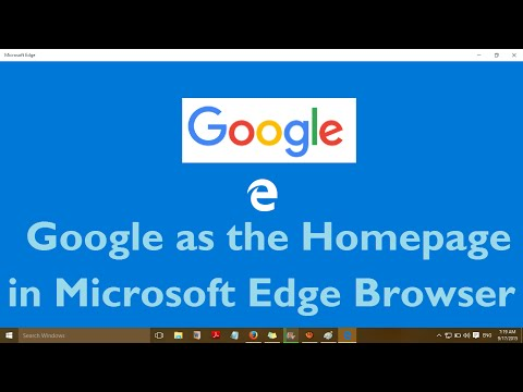 How to Set Google as the Homepage in Microsoft Edge Browser and Remove MSN Homepage