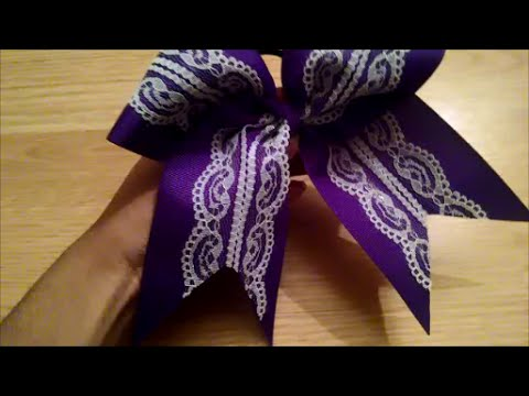 How to Make a Lace Cheer Bow