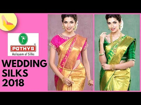 Pothys Wedding Saree Collection 2018 | Price Rs 15000 - Rs 18000