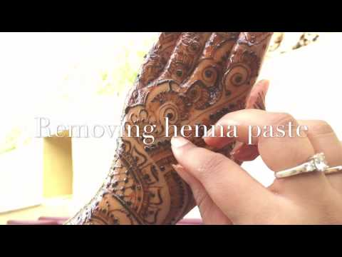 How to REMOVE Henna Paste