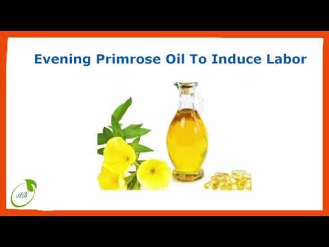 Evening primrose oil to induce labor