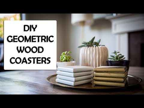 DIY Geometric Wood Coasters