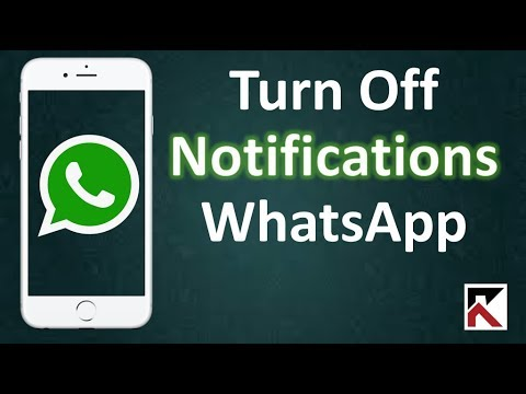 How To Turn Off WhatsApp Notifications iPhone