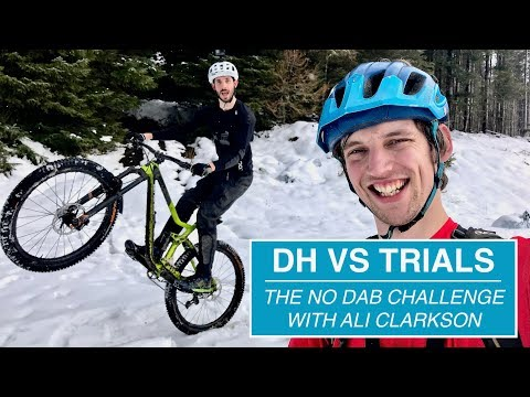 DOWNHILL VS TRIALS // The No Dab Challenge with Ali Clarkson