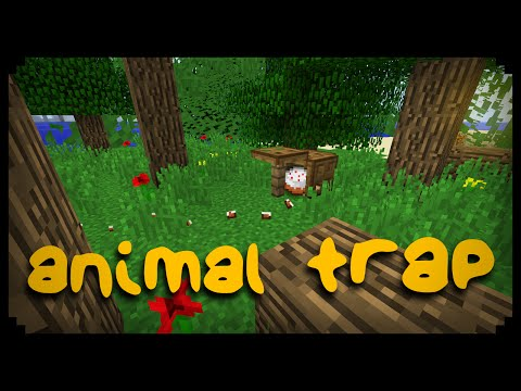 ✔ Minecraft: How to make an Animal Trap