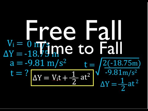 Physics, Kinematics, Free Fall (4 of 12) Solving for Time to Fall from Known Height