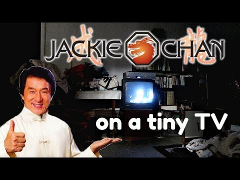 We watched an old Jackie Chan movie on a tiny TV