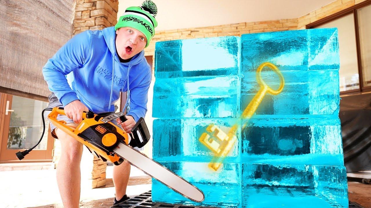 We Found A KEY FROZEN In ICE…