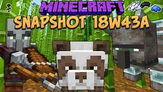 Minecraft 1.14 Snapshot 18w43a Village And Pillage Update! Loom, Pandas, Bamboo & Crossbow!