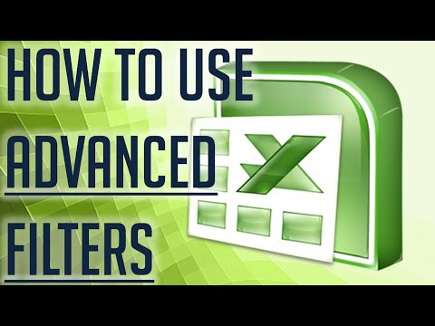 [Free Excel Tutorial] HOW TO USE ADVANCED FILTERS - Full HD
