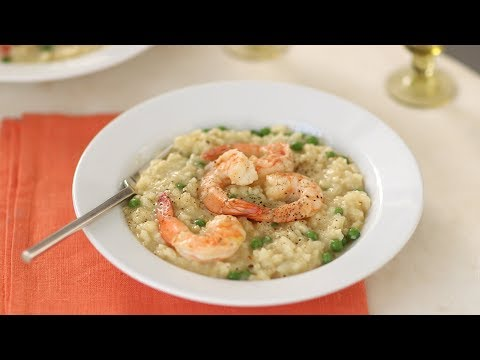 Saffron Risotto with Shrimp and Peas- Everyday Food with Sarah Carey