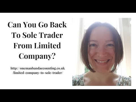 Can You Go Back To Sole Trader From Limited Company?