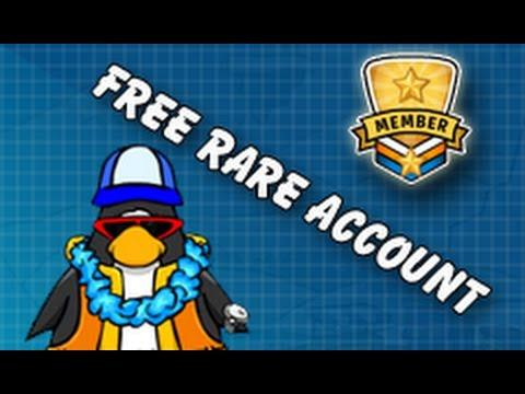 Club Penguin Free Rare Member Account June 2013