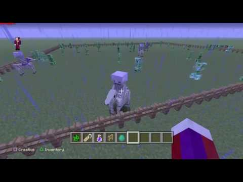 Minecraft How To Get Mob Heads In Survival/Charged Creeper/4 Horseman