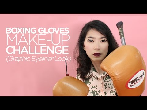Boxing Gloves Make-Up Challenge (Graphic Eyeliner Look) / 위시트렌드 클레어스 화장품