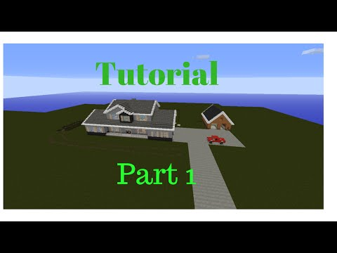 RomanAtWoods house in Minecraft [Tutorial Part 1]