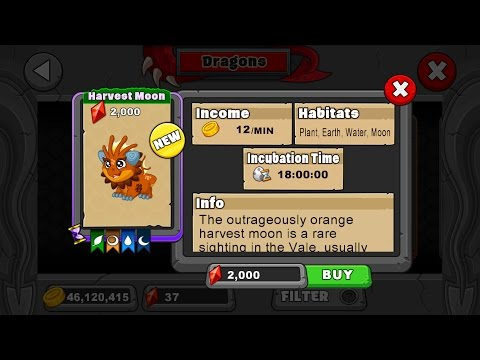 How to breed the Harvest Moon dragon in Dragonvale!