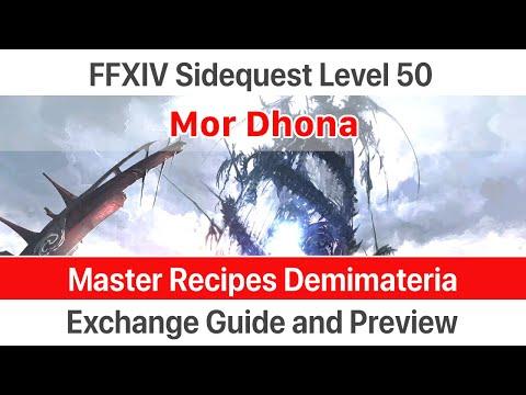FFXIV Master Recipes Demimateria
