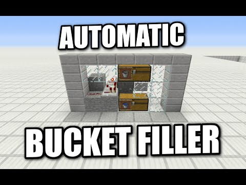 Minecraft PS4 - AUTOMATIC WATER BUCKET FILLER - Tutorial ( PS3 / XBOX ) WII