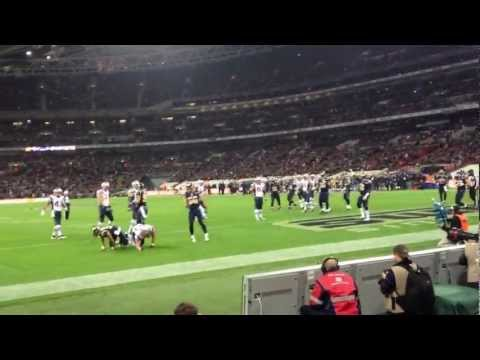 Patriots Vs Rams - London 2012 Gronkowski Incomplete Pass Endzone