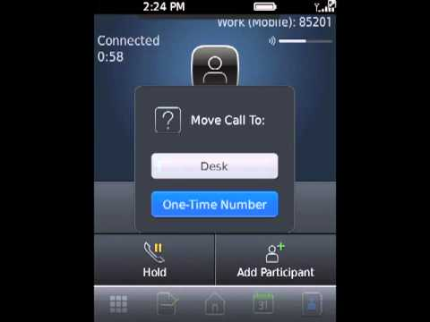 How to move an Active Call from a BlackBerry Mobile Voice System smartphone to a One-time number