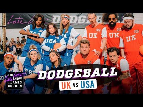 Xxx Mp4 Team USA V Team UK Dodgeball W Michelle Obama Harry Styles More LateLateLondon 3gp Sex
