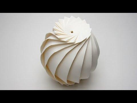 Easy Origami Sphere (16 Flaps) Full Tutorial -  [Jun Mitani ]