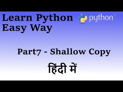 Learn Python in Hindi Part 7 (Slice Copy Lists)