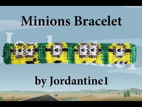 New Minions Bracelet Pattern- Alpha Loom / Rainbow Loom - Despicable Me - Minion